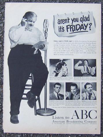 1940s ABC Radio Friday Night Magazine Advertisment