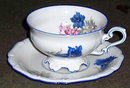 US Zone Germany Jaeger Cup and Saucer with Flowers