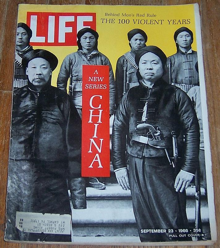 Life Magazine September 23, 1966 Mao's Red Rule The 100 Violent Years China