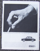 1963 Renault Stick Shift Automobile Magazine Ad