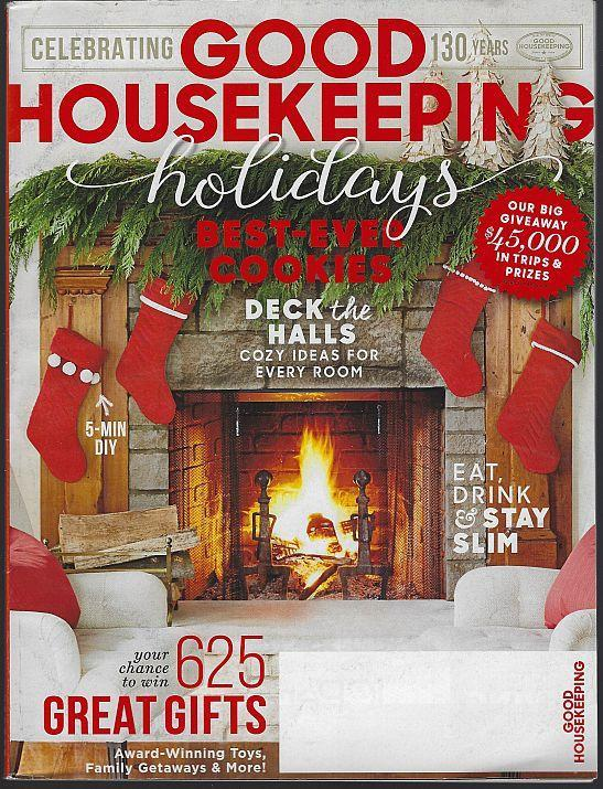 Good Housekeeping Magazine December 2015 Holidays/Cookies/Eat Drink Stay Slim