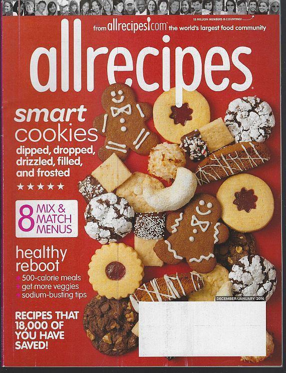 Allrecipes Magazine December/January 2016 Smart Cookies/Light Meals/Citrus