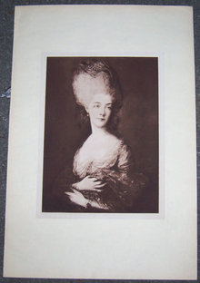 Print of a Lovely Eighteenth Century Lady