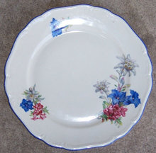US Zone Germany Jaeger Dinner Plate with Flowers