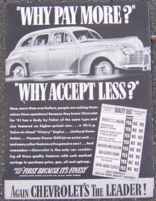 1941 Chevrolet for '41 Life Magazine Advertisment