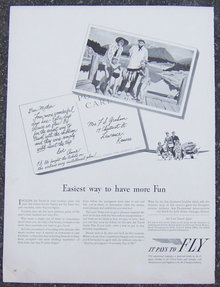1950s It Pays to Fly Life Magazine Advertisment
