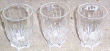 Set of Three Vintage Star Juice Tumblers