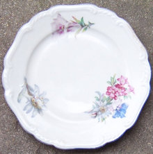 US Zone Germany Jaeger Bread and Butter Plate with Flowers