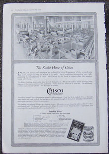 Crisco Sunshine Cake, Sunlit Home 1916 Advertisement