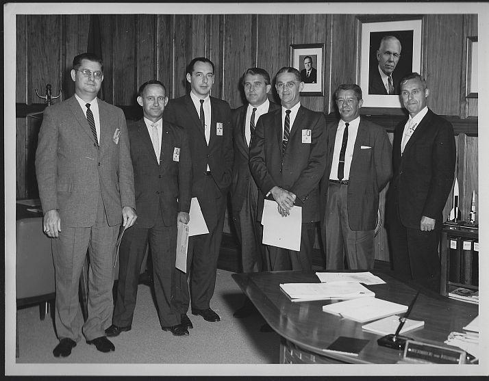 Original Photograph Performance Awards w/ Von Braun Marshall Space Flight