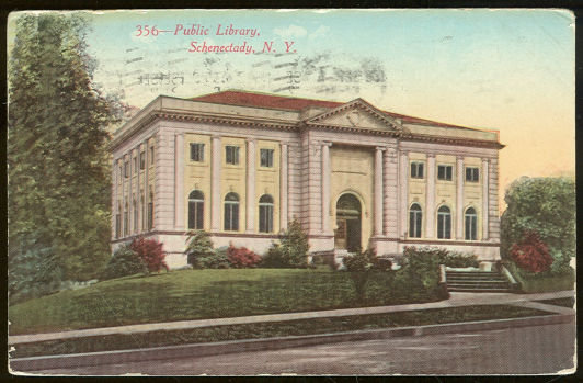 Postcard of Public Library, Schenectady, New York