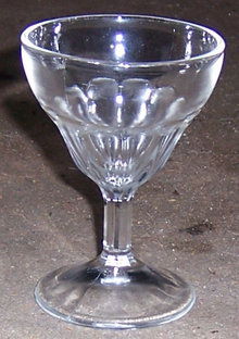 Vintage Federal Wide Panel Cordial Clear Glass