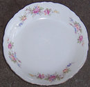 Homer Laughlin Virginia Rose Pink Rose Flat Soup Bowl