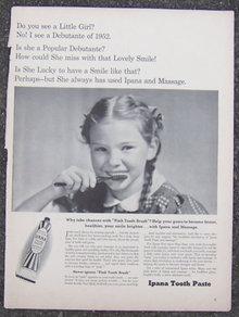1940 Ipana Tooth Paste Life Magazine Advertisment