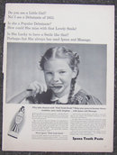 1940 Ipana Tooth Paste Life Magazine Advertisment
