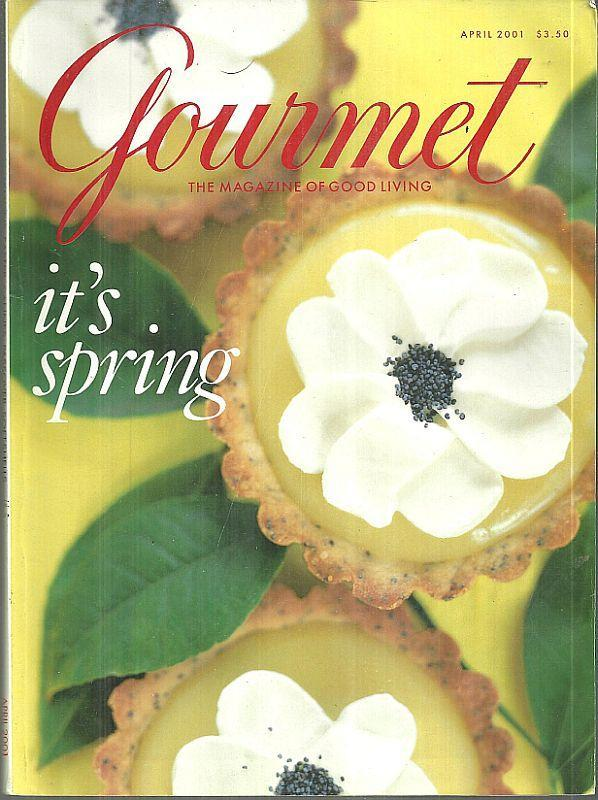 Gourmet Magazine April 2001 It's Spring on the Cover