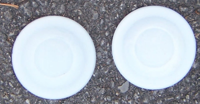 Two Milk Glass Fruit Jar Canning Insert Lids