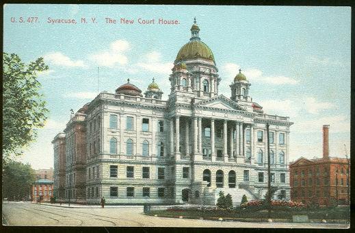 The New Court House, Syracuse, New York Postcard