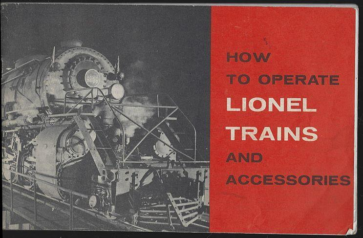 How to Operate Lionel Trains and Accessories 1960 Illustrated Instruction Book