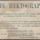 Victorian Trade Card for Hektograph Dry Copying with Acrobat Writing with Toes
