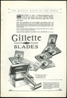 Gillette Safety Razor Blade 1925 Magazine Advertisement