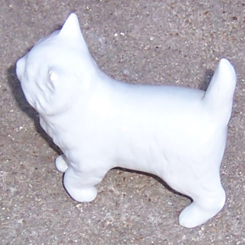 Vintage Small Grey China Standing Fluffy Cat