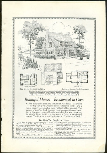 1925 National Geographic Face Brick Magazine Advertisement