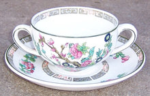 John Maddock Indian Tree Bouillon Cup and Saucer