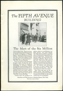 Fifth Avenue Building NYC 1925 Magazine Advertisement