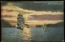 Postcard Ships Homeward Bound San Francisco, California