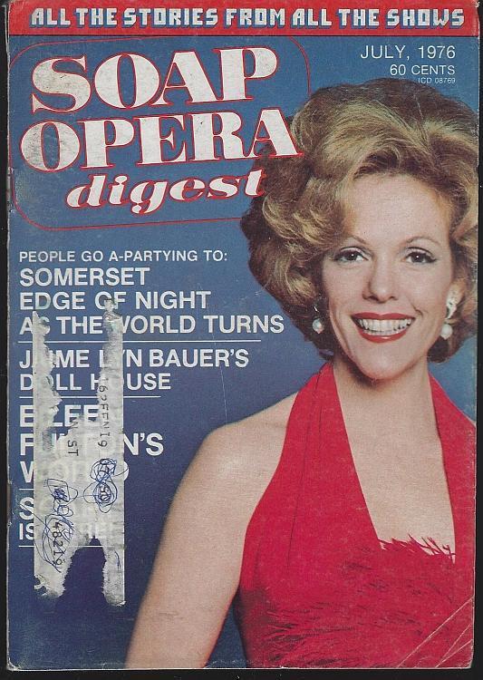 Soap Opera Digest July 1976 Eileen Fulton on Cover