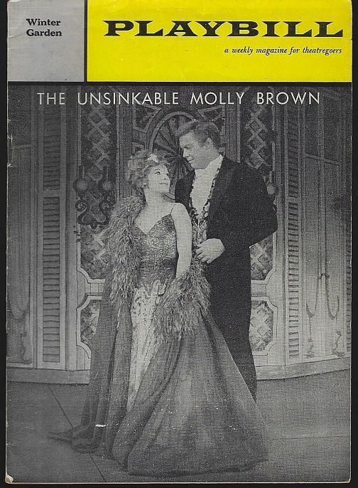 Playbill Unsinkable Molly Brown, Winter Garden, February 27, 1961 Tammy Grimes