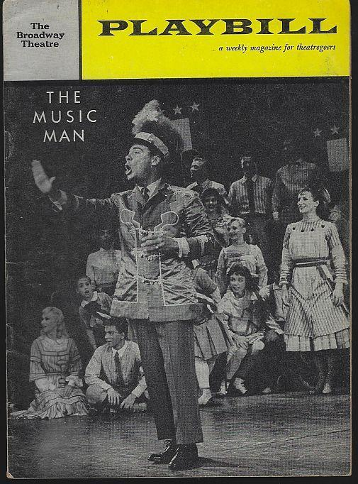 Playbill Music Man, the Broadway Theatre, March 13, 1961 Starring Bert Parks