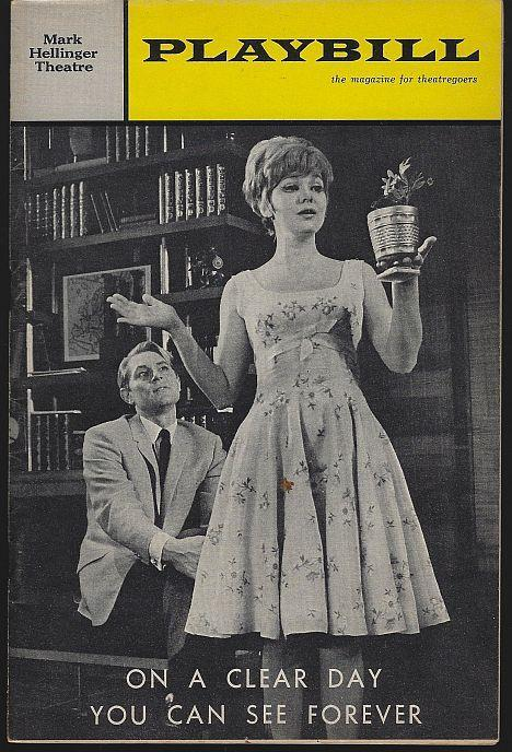 Playbill On a Clear Day You Can See Forever, Mark Hellinger Theatre, April 1966