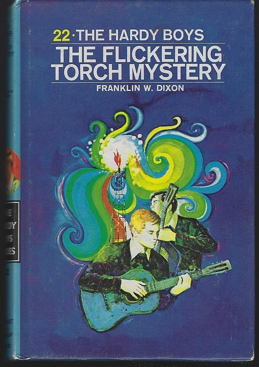 Flickering Torch Mystery by Franklin Dixon 1971 Hardy Boys #22 Matte Blue Cover