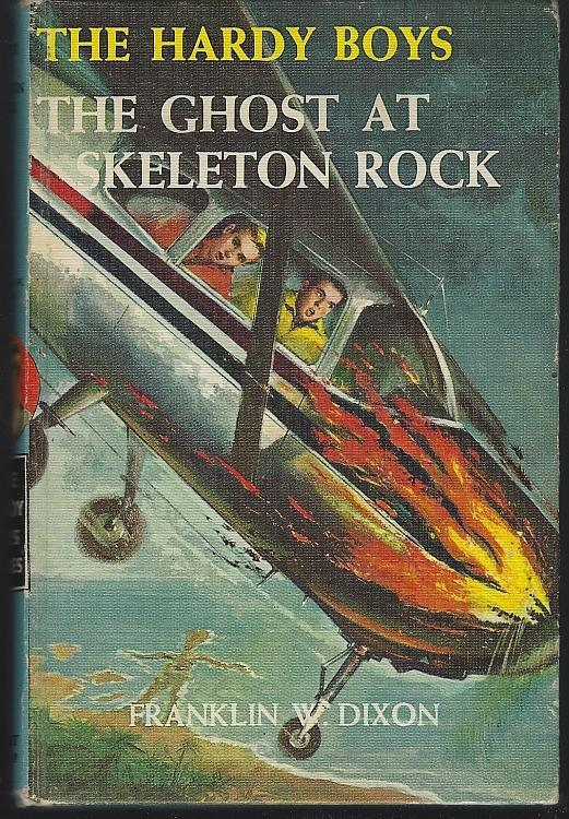 Ghost at Skeleton Rock by Franklin Dixon Hardy Boys #37 1957 Matte Blue Cover