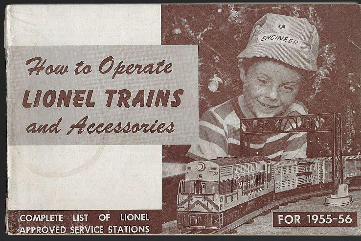 How to Operate Lionel Trains and Accessories 1955 Illustrated Instruction Book