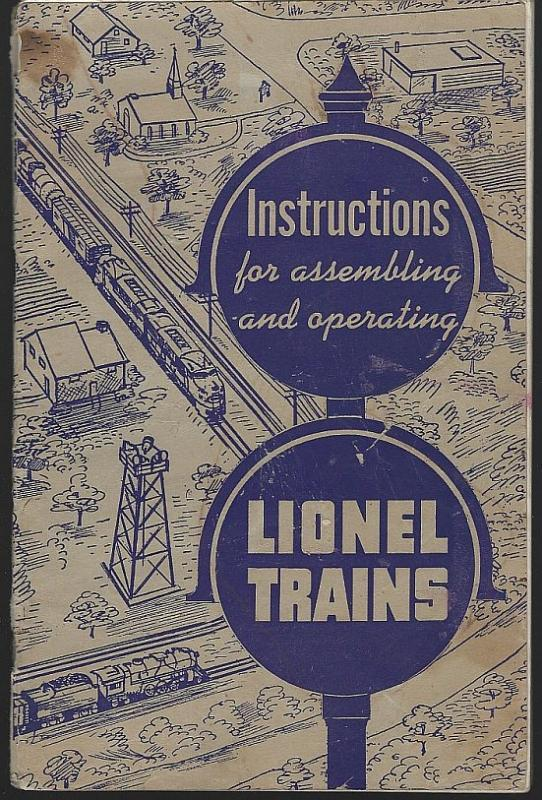 Instructions for Assembling and Operating Lionel Trains 1951 Illustrated Booklet