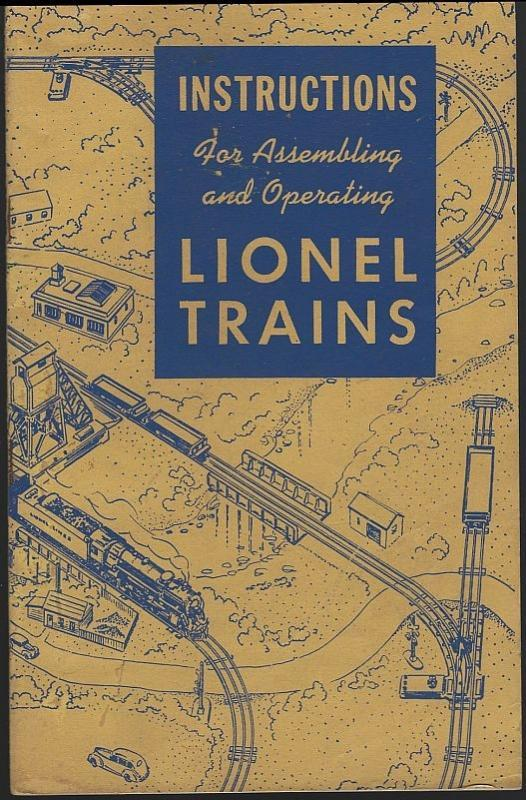 Instructions for Assembling and Operating Lionel Trains 1947 Illustrated Booklet