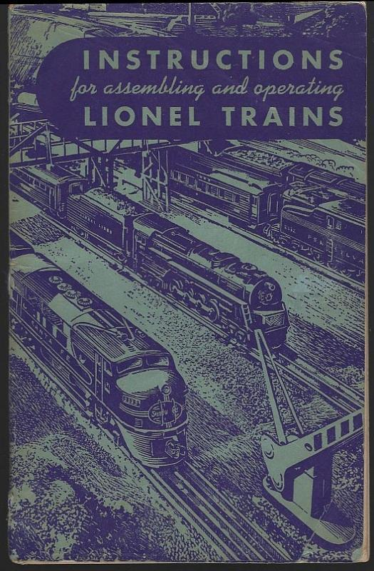 Instructions for Assembling and Operating Lionel Trains 1949 Illustrated Booklet