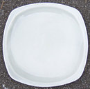 Vintage Paden City Minion Gray Square Dinner Plate