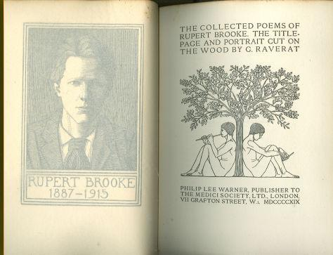 Collected Poems of Rupert Brooke Illustrated by G. Raverat 1919 Limited edition