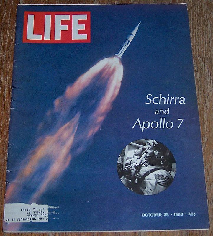 Life Magazine October 25, 1968 Schirra and Apollo 7 Cover/Mickey Mouse/Vietnam