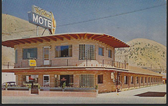 Vintage Unused Postcard of Flame Inn, Jackson, Wyoming H. C. Richards Owner