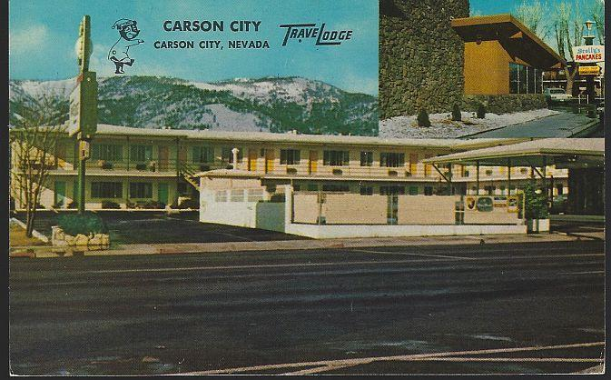 Vintage Unused Postcard of Carson City Travelodge, Carson City, Nevada
