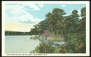 Postcard of Boat House on the Lake Lakewood, New Jersey