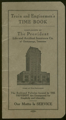 Train and Enginemen's Time Book The Provident Insurance