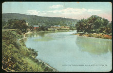 Postcard of Along the Susquehanna River, Pittston, Pennsylvania