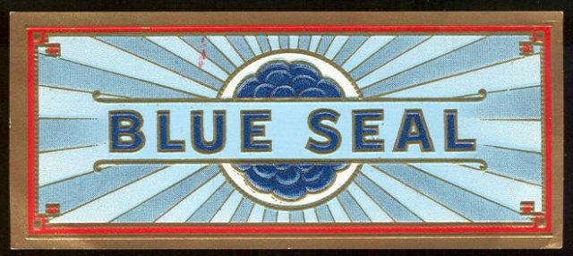 Vintage Blue Seal Cigar Box Label