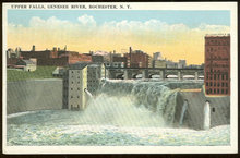 Postcard of Upper Falls, Genesee River, Rochester, New York